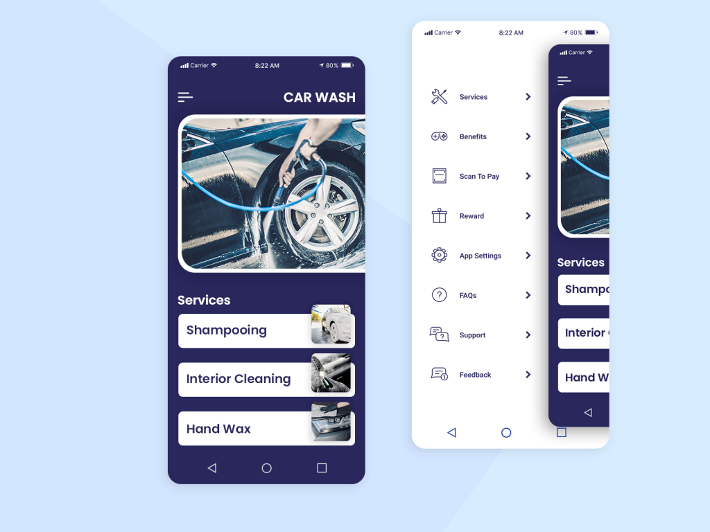 car wash mobile app