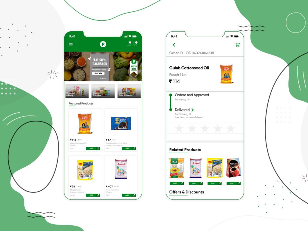 grocery delivery mobile app development